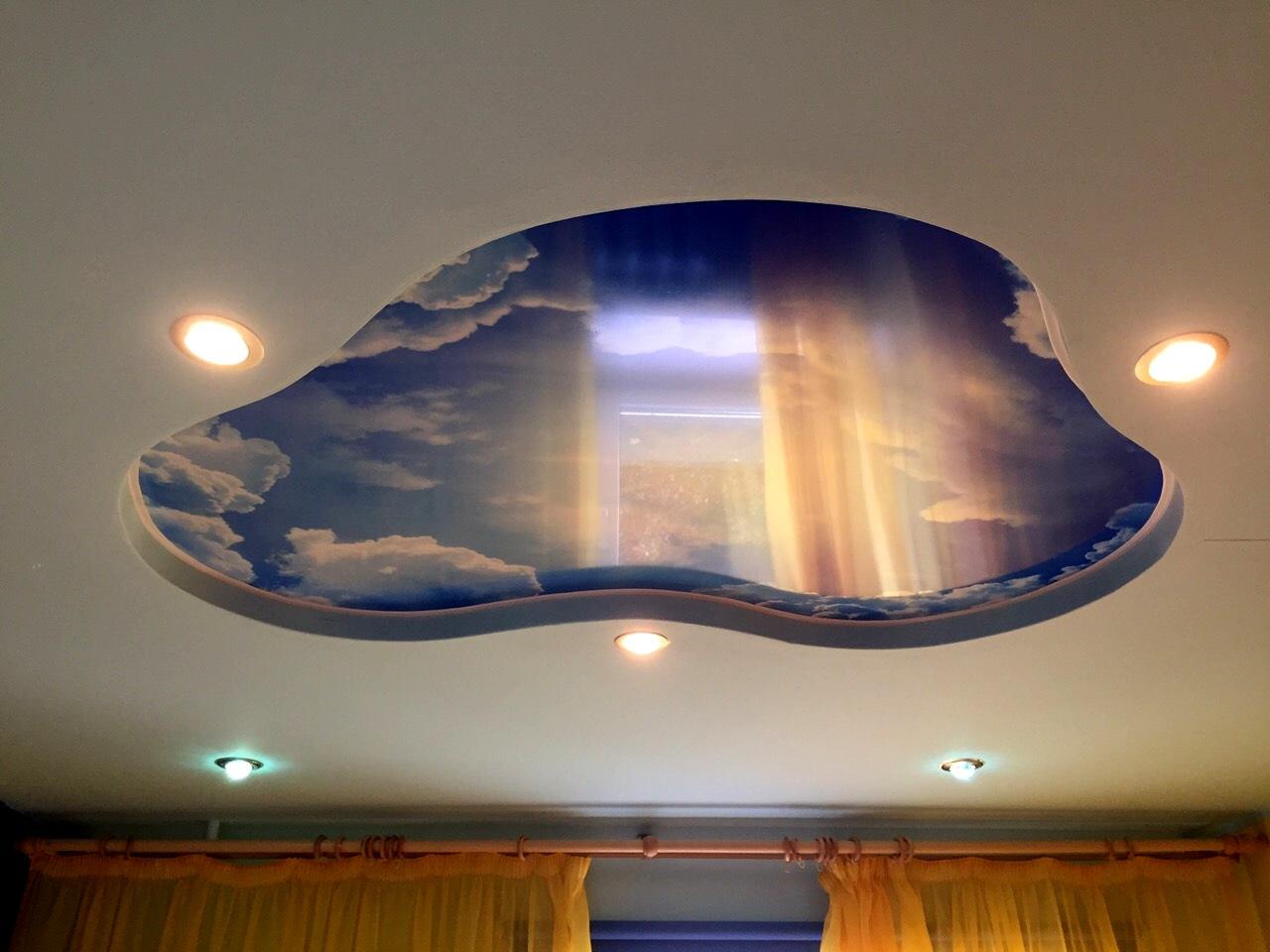 Дизайн играфии навесных потолков